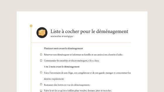 listeà cocher télécharger déménagement checklist