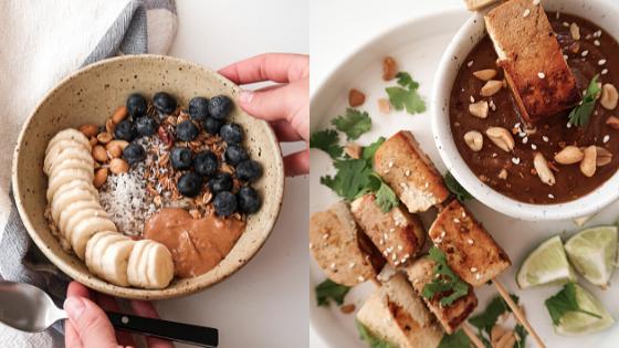 arachides gruau tofu satay