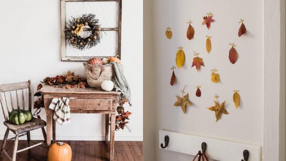 automne decoration minimaliste zero dechet
