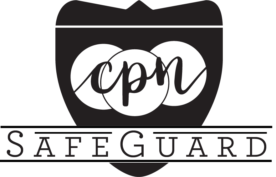 CPN SafeGuard 360-degree Background Screen from Capitol Park Nannies, Sacramento-based Nanny Agency (CPN SafeGuard Logo)