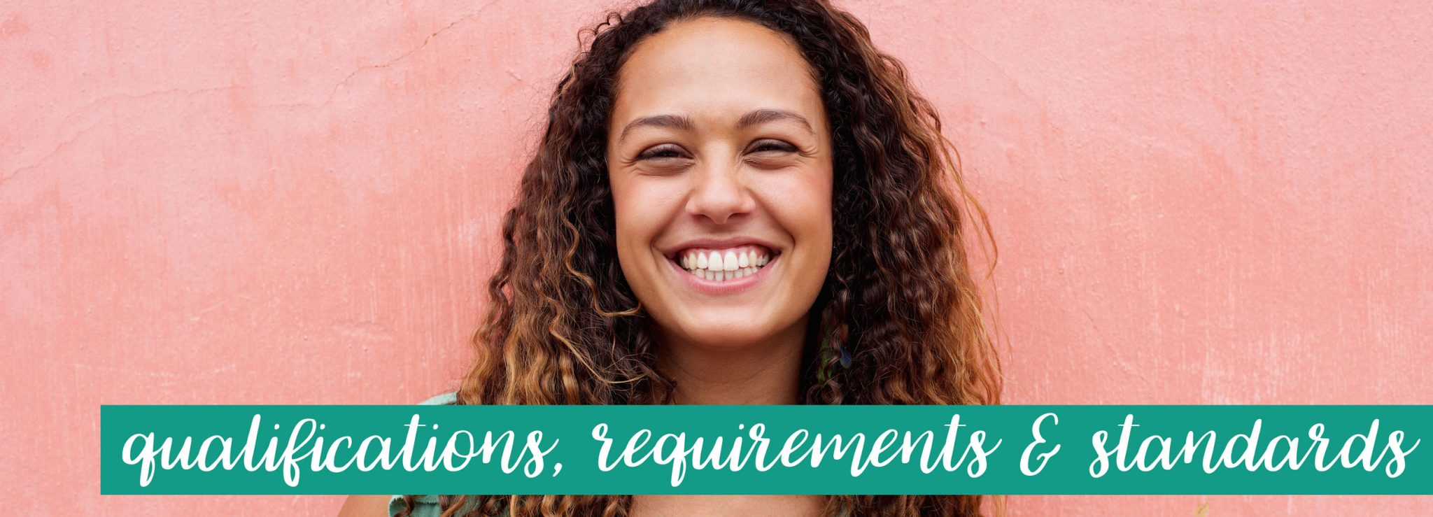 Lovely happy nanny smiling in support of the qualifications, requirements and standards information from Capitol Park Nannies, Sacramento-based Nanny Agency