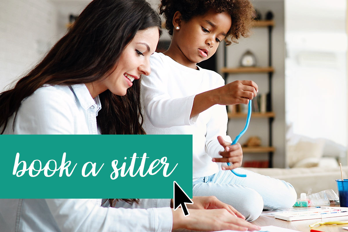 Temp/on-call nanny with child for sitter services from Capitol Park Nannies, Sacramento-based Nanny Agency
