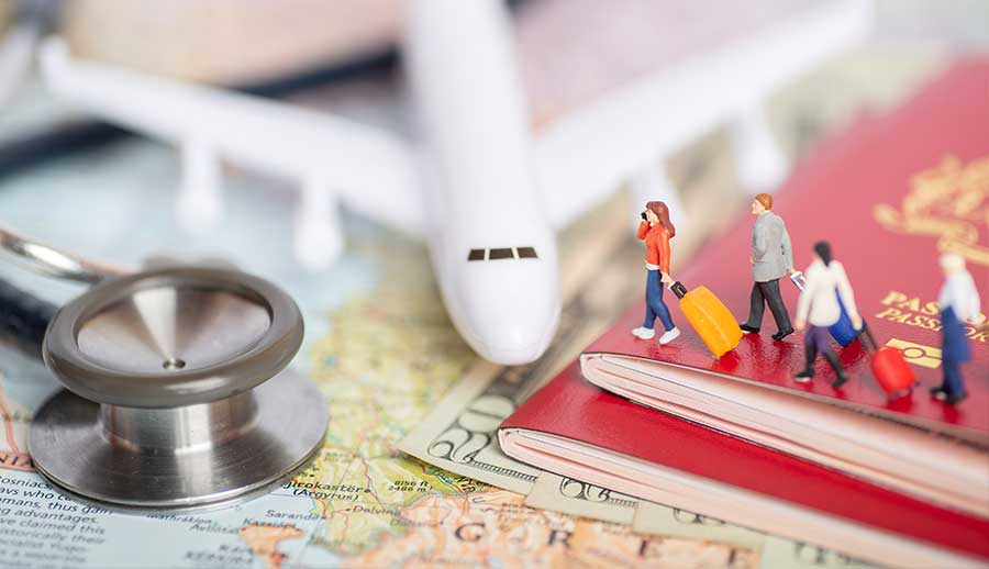 Familia sobre Pasaporte de Seguro Viajero