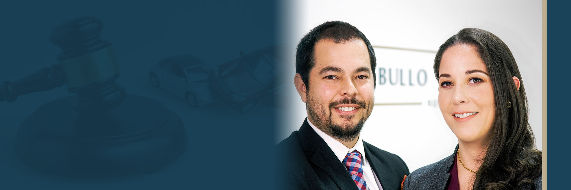 Ingrid y Luigi Slider Bullo Rodriguez Bureau Legal advice and insurance