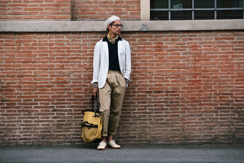 Tomoyoshi-takada-Guerreisms-Pitti-uomo-hat-neckerchief-web