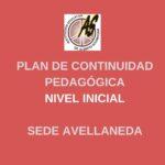 Inicial Avellaneda – Plan de Continuidad Pedagógica