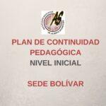 Inicial Bolívar – Plan de Continuidad Pedagógica