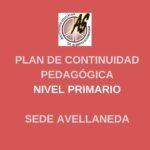 Primario Avellaneda – Plan de Continuidad Pedagógica