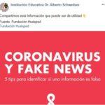 Recomendaciones – Coronavirus y noticias falsas