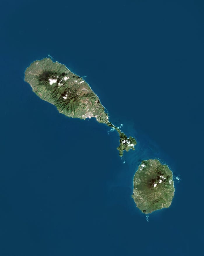 St Kitts Nevis Arial View