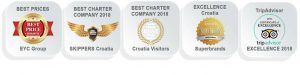 Best awards Catamaran Charter Croatia