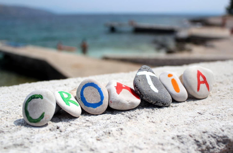 Croatia rocks on the beach