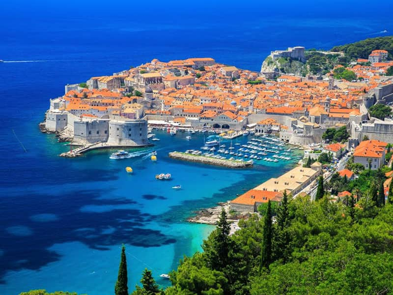 Dubrovnik charter area itinerary