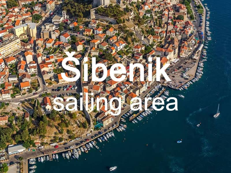 Sibenik sailing area itinerary