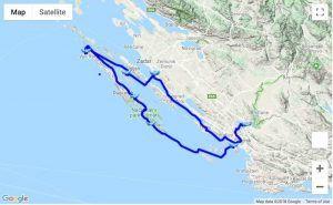Itinerary Sukošan - Kornati - Skradin