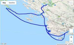 Itinerary Trogir - Kornati – Krka