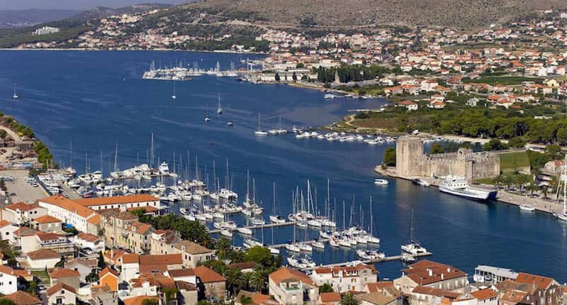 Trogir marina Catamaran charter Croatia