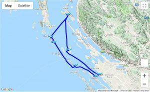 Itinerary Zadar - Lošinj - Rab