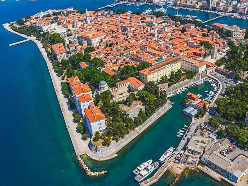 Zadar charter area itinerary