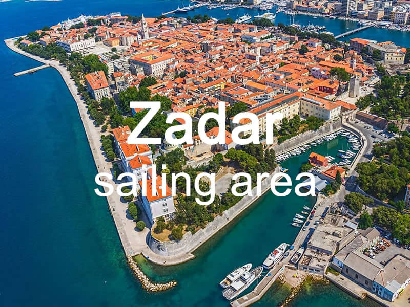 Zadar sailing area itinerary