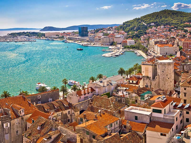 Split charter area itinerary