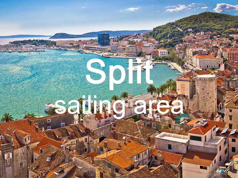 Split sailing area itinerary