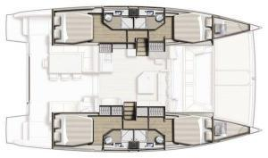 Bali 4.0 layout Catamaran Charter Croatia