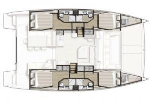Bali 4.3 layout Catamaran Charter Croatia