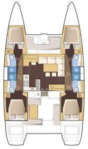 Catamaran Charter Croatia Lagoon 450 what is a catamaran layout
