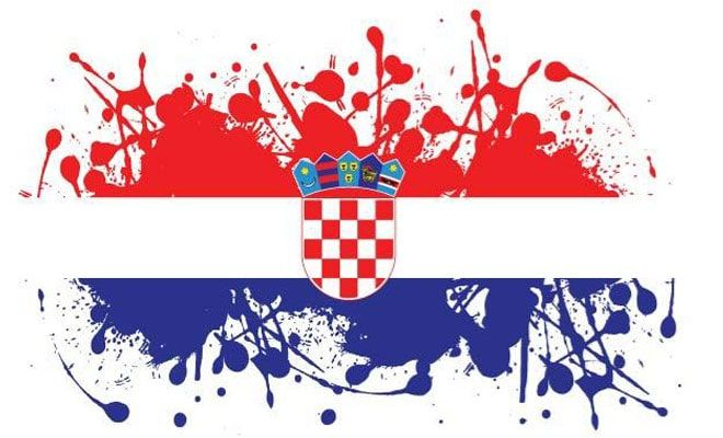 Croatia national flag and colors