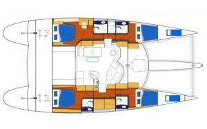 Fountaine Pajot Eleuthera 60 layout Catamaran Charter Croatia