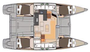 Fountaine Pajot Helia 44 layout Catamaran Charter Croatia