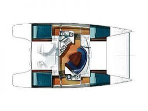 Fountaine Pajot Lavezzi 40 layout Catamaran Charter Croatia
