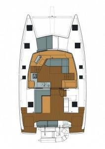 Fountaine Pajot Lucia 40 layout Catamaran Charter Croatia