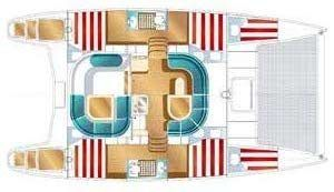 Nautitech 40 layout Catamaran Charter Croatia
