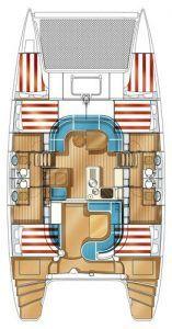 Nautitech 441 layout Catamaran Charter Croatia
