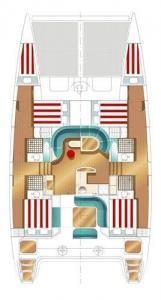 Nautitech 47 layout Catamaran Charter Croatia
