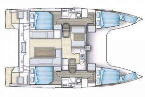 Nautitech Open 40 layout Catamaran Charter Croatia