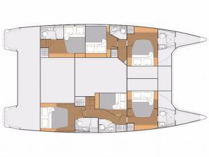 Fountaine Pajot Saba 50 layout Catamaran Charter Croatia