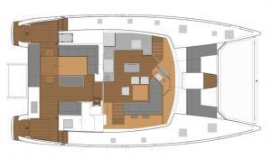 Fountaine Pajot Saba 50 layout Catamaran Charter Croatia