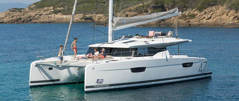 Fountaine Pajot Saona 47 Quintet Catamaran Charter Croatia