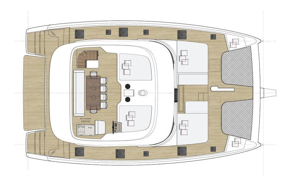 Sunreef 50 Catamaran Charter Croatia Original Layout 3
