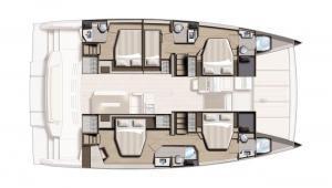 Bali 4.8 Catamaran Charter Croatia Layout 2