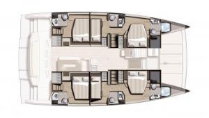 Bali 4.8 Catamaran Charter Croatia Layout 3