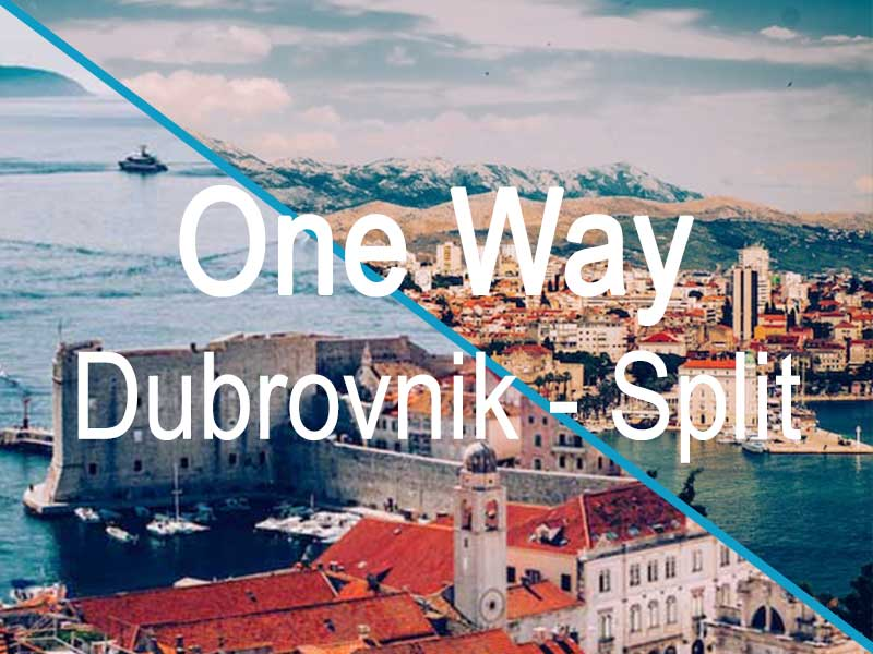 One Way Split - Dubrvonik itinerary