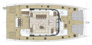 Sunreef 80 Catamaran Charter Croatia Layout 1