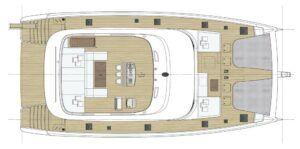 Sunreef 80 Catamaran Charter Croatia Layout 2