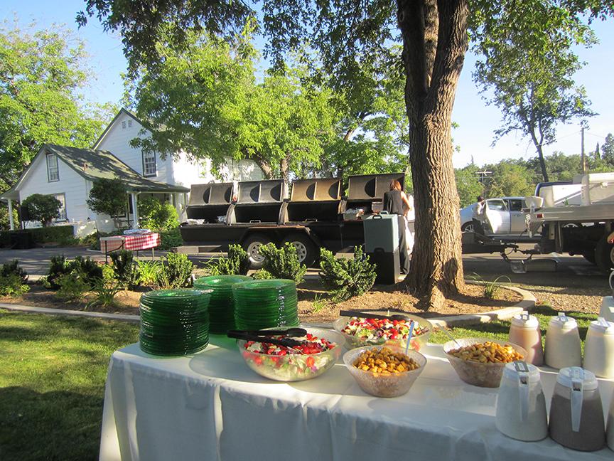 backyard wedding catering