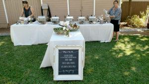 wedding menu signage