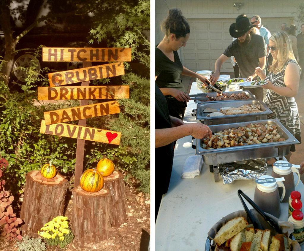 Grass Valley backyard-wedding BBQ